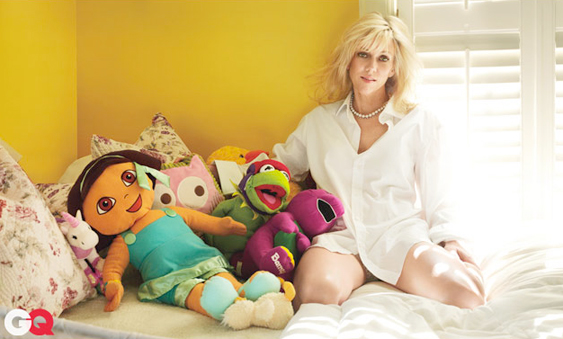 Rielle Hunter Posing with Daughter's Stuffed Toys for GQ