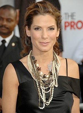 Sandra Bullock with Pearl Necklace